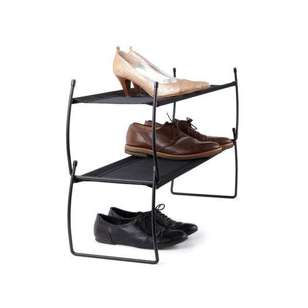 Range-chaussures, 2 pqt, noir