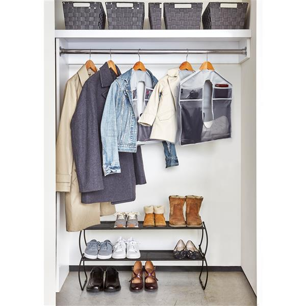Organisateur Stash on the Rack, 2 pqt, gris
