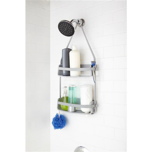 Umbra Flex 12.13-in Grey Shower Caddy