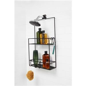 Umbra Flex 11.25-in Black Shower Caddy