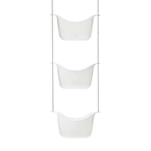 Umbra Flex 5.9-in White/Nickel Shower Caddy