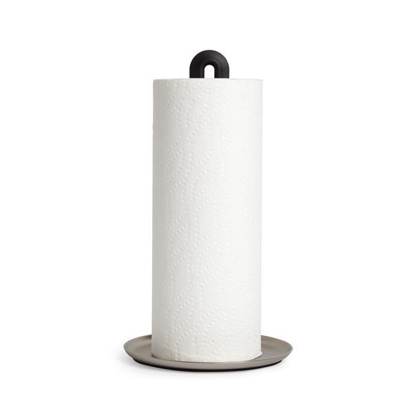 Umbra Keyhole 6.75-in x 12.5-in Black/Nickle Paper Towel Holder