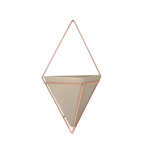 Umbra Trigg Wall Display - Large - Concrete/Copper