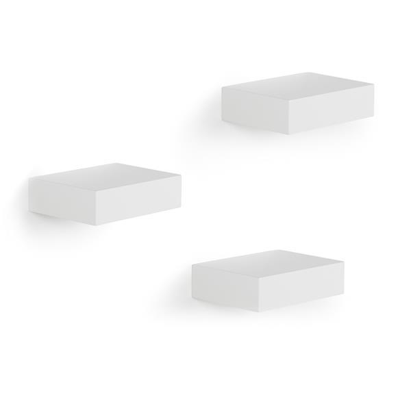 Mini étagères Showcase, blanc, 3 mcx
