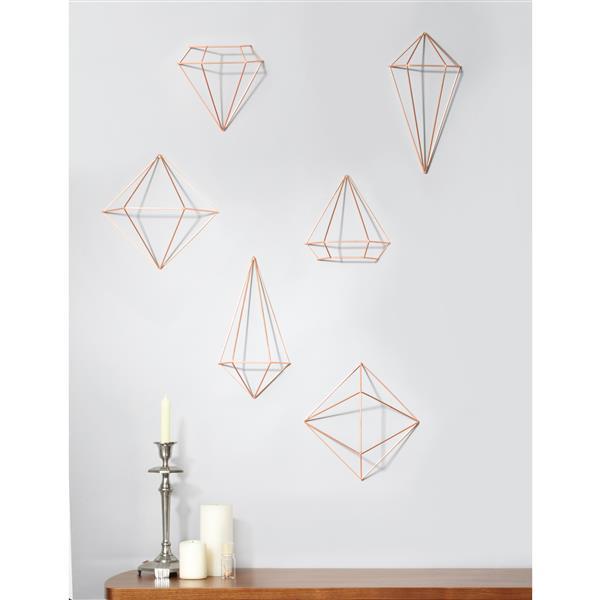 Umbra Prisma Wall Decor - Copper - 6-Piece