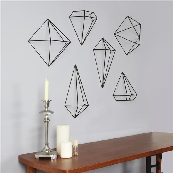 Umbra Prisma Wall Decor - Black - 6-Piece