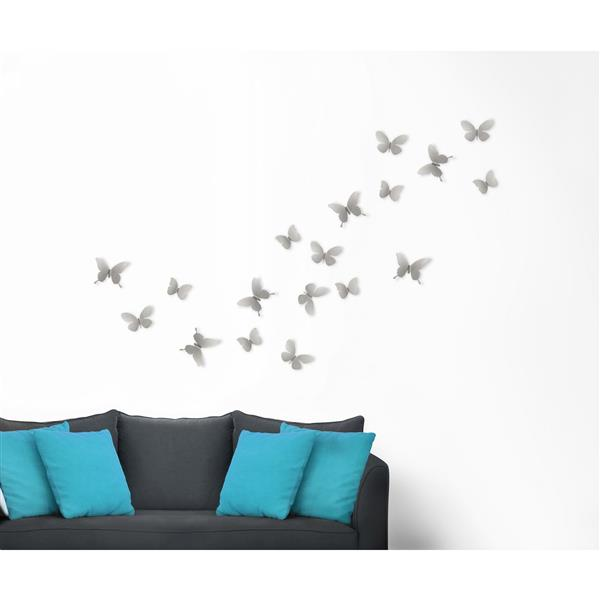 Umbra Mariposa Metal Wall Decor - Nickel - 9-Piece