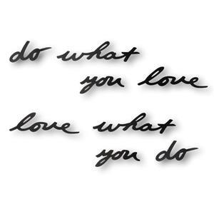 Décoration murale avec mantra « Do What you Love », noir