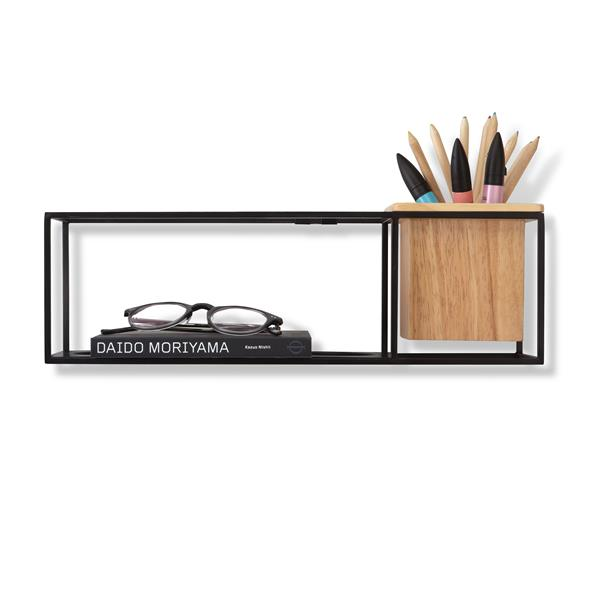 Umbra Cubist Wall Display - 4.75-in x 4.5-in - Small - Black