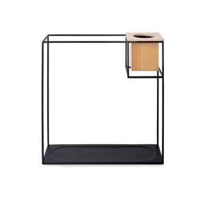 Étagère en métal Cubist, grand, sable/noir