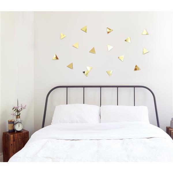 Umbra Confetti Triangle Wall Decor - Brass - 16-Pack
