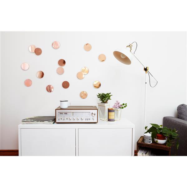 Décoration murale Confetti, cuivré, 16 mcx