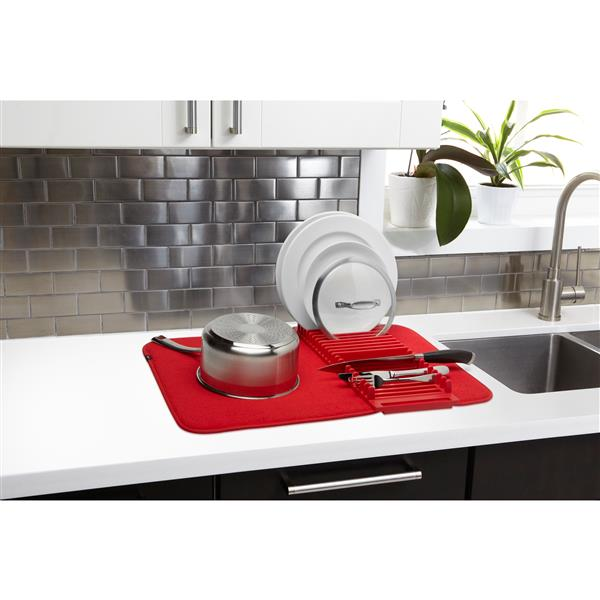 Umbra Udry Drying Mat - Red