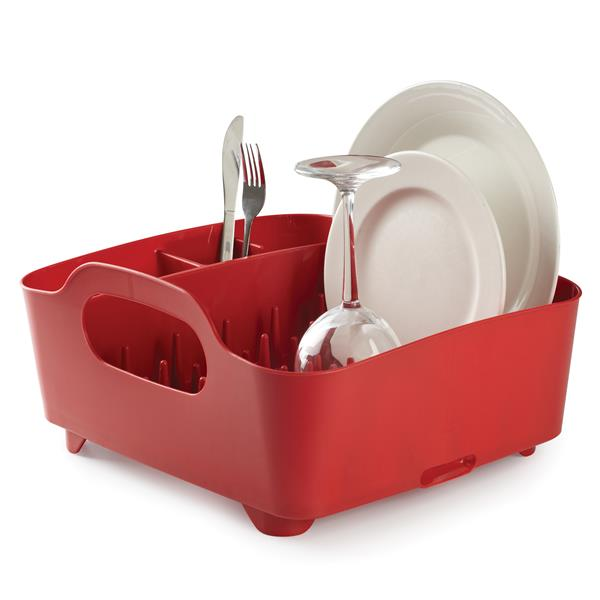 Umbra Red Tub Dish Rack