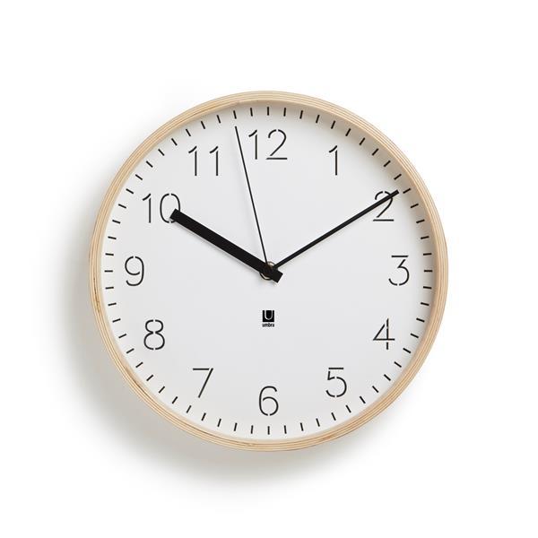 Horloge murale Rimwood, naturel/blanc
