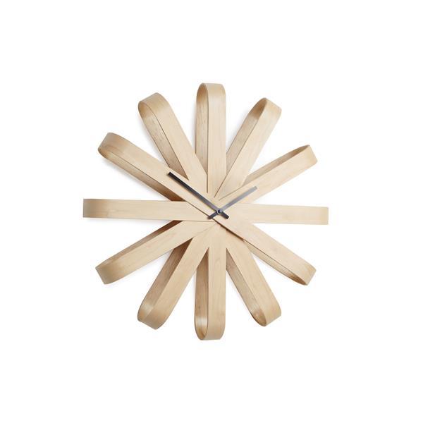 Umbra 20.25-in Natural Ribbonwood Wall Clock