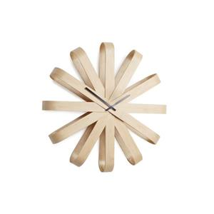 Horloge murale Ribbonwood, naturel, 20.25""