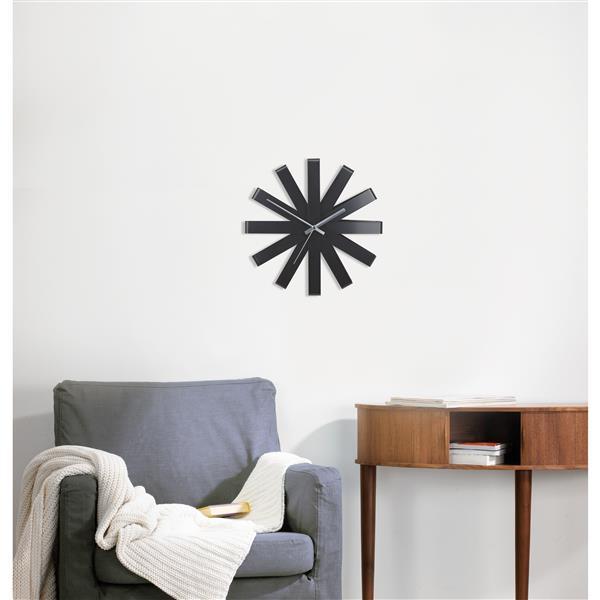 Umbra 12-in Black Ribbon Wall Clock