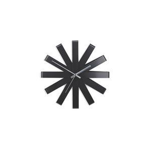 """Horloge murale Ribbon, noir, 12"""""""