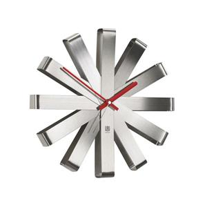 Horloge murale Ribbon, nickel , 12""