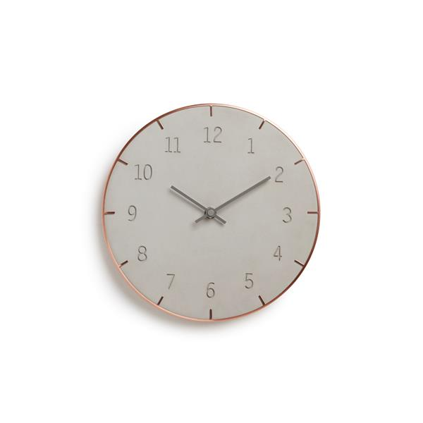 Umbra 10-in Concrete Piatto Wall Clock