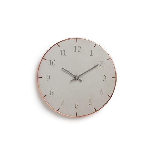 "Horloge murale Piatto, gris, 10"""