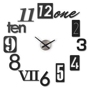 Horloge murale Numbra, noir