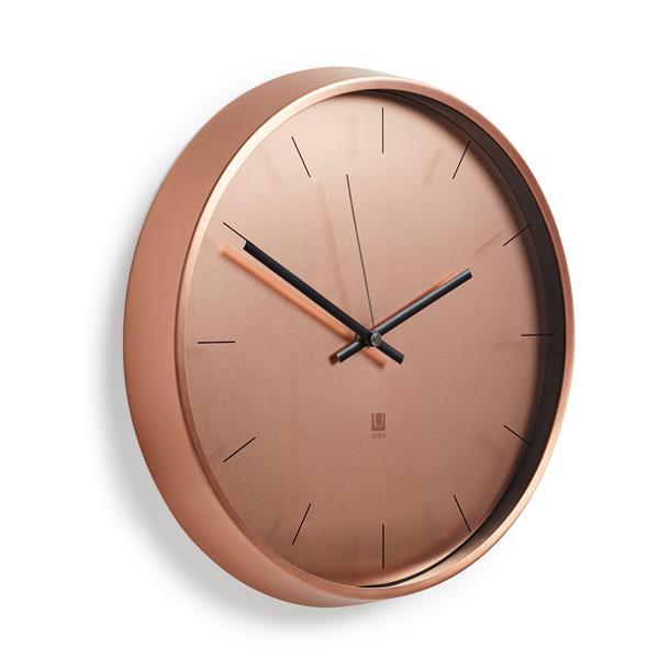 Umbra 12.5-in Copper Meta Wall Clock