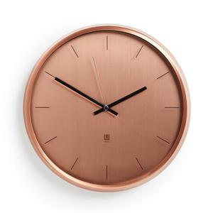 """Horloge murale Meta, cuivre, 12.5"""""""