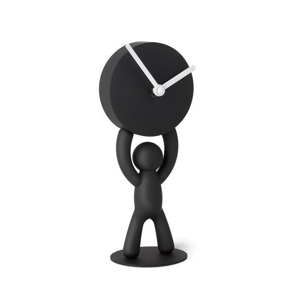 Umbra Black Buddy Desk Clock
