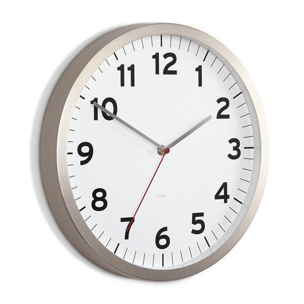 "Horloge Anytime, blanc, 12.5"""