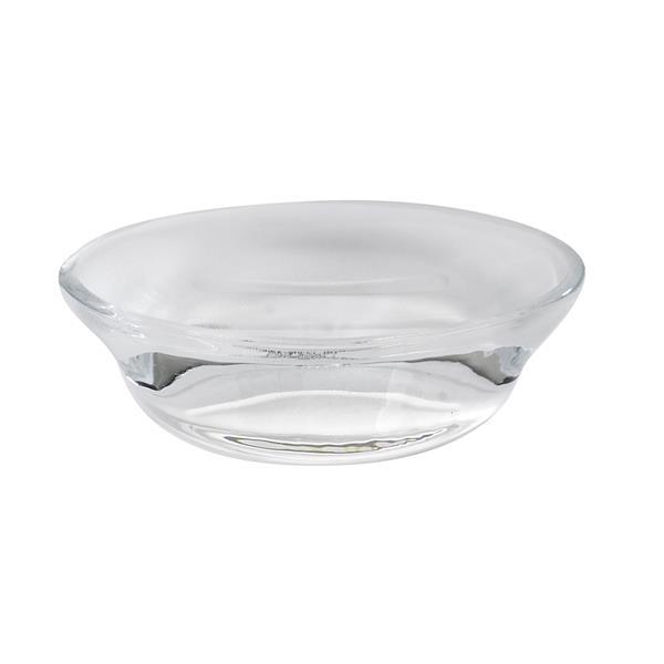 Umbra Vapor Translucent White Molded Glass Soap Dish