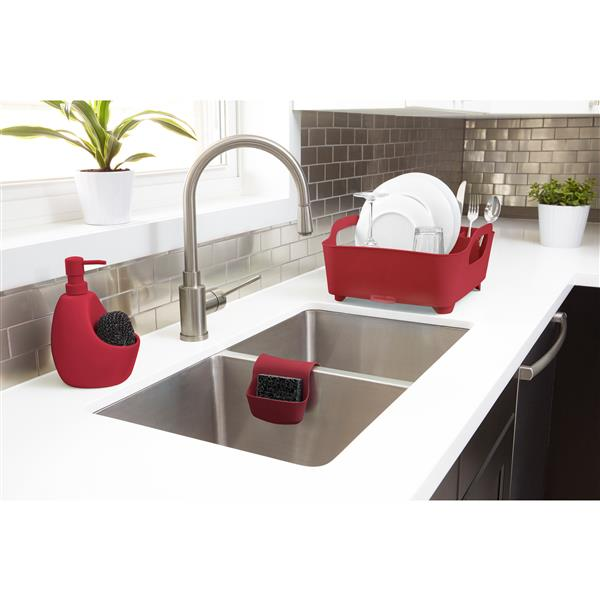 Umbra Joey Red Soap Pump With Scrubby Holder
