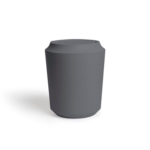 Corbeille avec couvercle, charbon