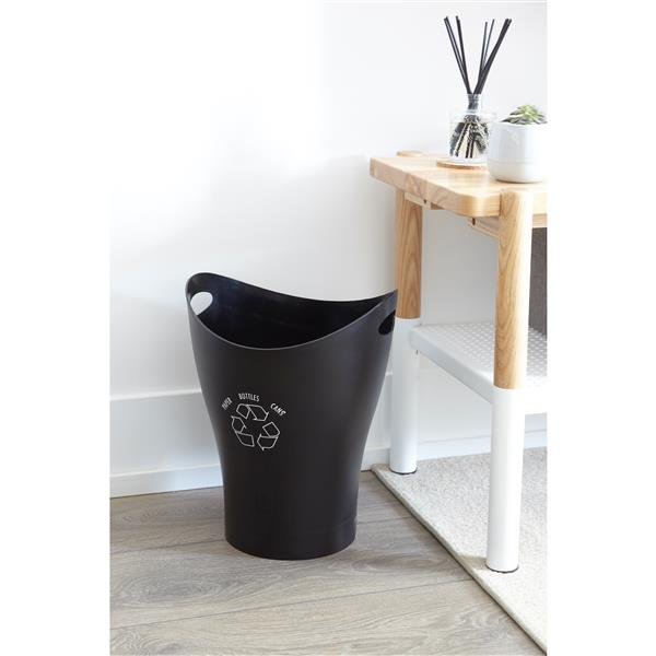 Umbra Garbino Black Recycle Can