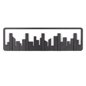 Crochets murale Skyline, noir
