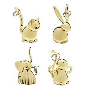 Umbra Zoola Brass Animal Ring Holder (Set of 4)