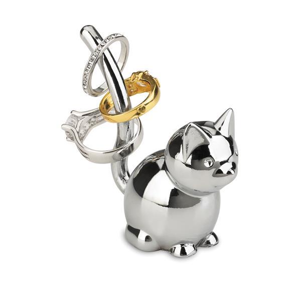 Umbra Zoola 1.25-in x 2.50-in x 3-in Chrome Cat Ring Holder