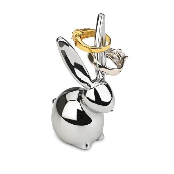 Umbra Zoola 3-in x 1.60-in x 1.75-in Chrome Bunny Ring Holder