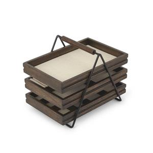 Umbra Terrace 7.75-in x 7-in x 10-in Black Walnut Jewelry Tray