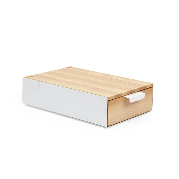 Umbra Reflexion 2.25-in x 5.63-in x 9.25-in White Natural Storage Jewelry Box
