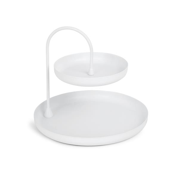 Umbra Poise 7.25-in x 8-in x 8-in White Jewelry Tray