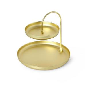 Umbra Poise 7.25-in x 8-in x 8-in Brass Jewelry Tray