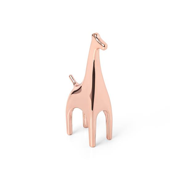 Umbra Anigram 3.63-in x 1-in x 1.50-in Copper Giraffe Ring Holder