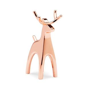 Umbra Anigram 3.25-in x 2-in x 1.38-in Copper Reindeer Ring Holder
