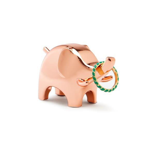 Umbra Anigram 1.25-in x 2-in x 2.75-in Copper Elephant Ring Holder