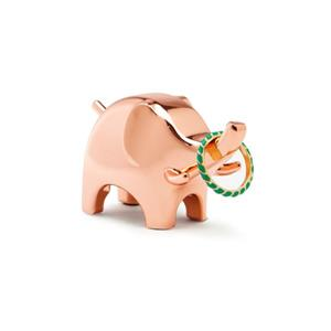 Umbra Anigram 1.25-in x 2-in x 2.75-in Copper Elephant Ring Holder