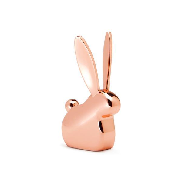 Umbra Anigram 2.88-in x 1-in x 1.5-in Copper Bunny Ring Holder