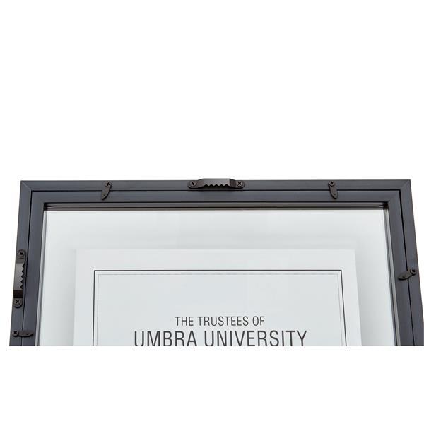 Umbra 12-In x 15-In x 1-In Black Document Photo Display