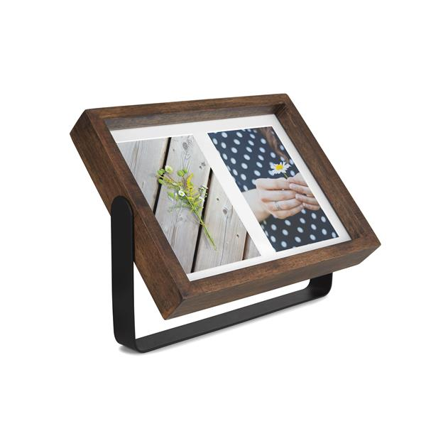 Umbra Aged Walnut 1.63' x 9.5-In x 11.5-In Wood Axis Photo Display